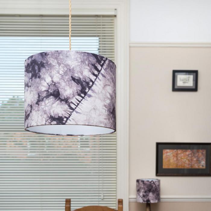 Purple orimaki shibori lampshade - Top Drawer 2019 - The