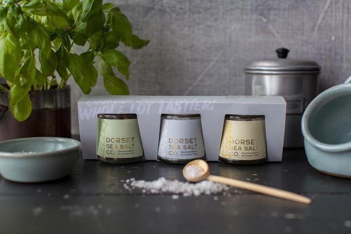 3 Jar Dorset Sea Salt Gift Pack with Provenance  - Top