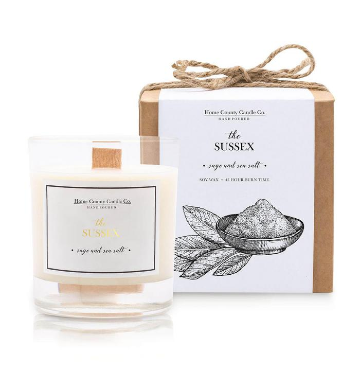 The Sussex - Sage & Sea Salt Soy Candle - Top Drawer 2019